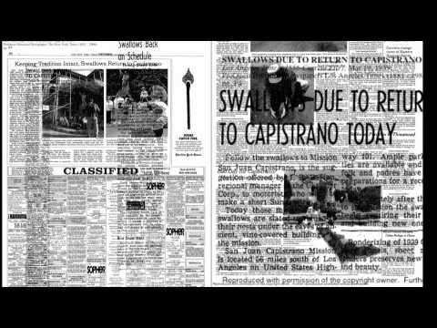 The San Juan Capistrano Swallows (Mission Tone News)