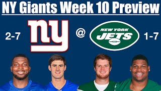 NY Giants Week 10 Preview vs Jets