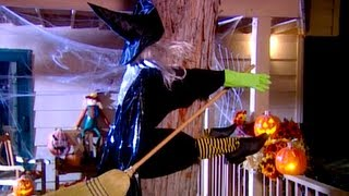This video is not available. Witch Crash Yard Decoration Halloween Craft Babble