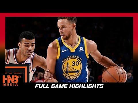 Golden State Warriors vs Philadelphia 76ers Full Game Highlights / Week 5 / 2017 NBA Season