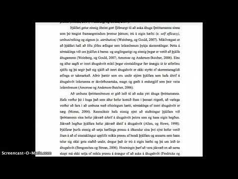 Ágúst S Björgvinsson og Bryndís Guðmundsdóttir  (2013) Árangur yngri l_UPPLESTUR UM ÁHUGAHVÖT part2