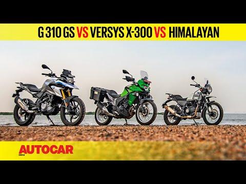 BMW G 310 GS vs Kawasaki Versys-X 300 vs Royal Enfield Himalayan | Comparison Review | Autocar India
