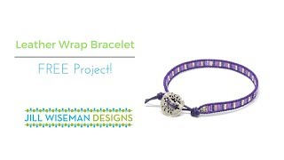 FREE Project: Leather Wrap Bracelet