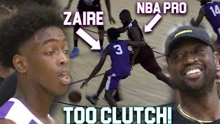 Zaire Wade GOES CLUTCH VS NBA PLAYERS InFront of D-Wade In MIAMI PRO AM!