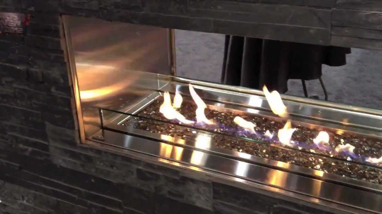 Outdoor Linear Gas Fireplace Patio Heater Gas Propane Natural Video Burn Youtube