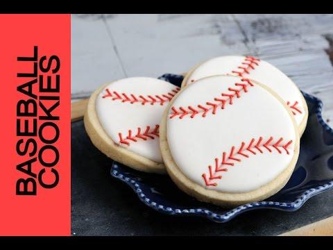 How To Decorate Baseball Cookies Haniela S Youtube