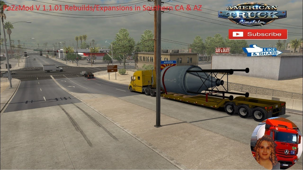 American Truck Simulator (1 35) PaZzMod V 1 1 01 Rebuilds/Expansions in CA  & AZ + DLC's & Mods