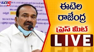 Etela Rajendar Press Meet LIVE | Allegations on Etela | TV5 News