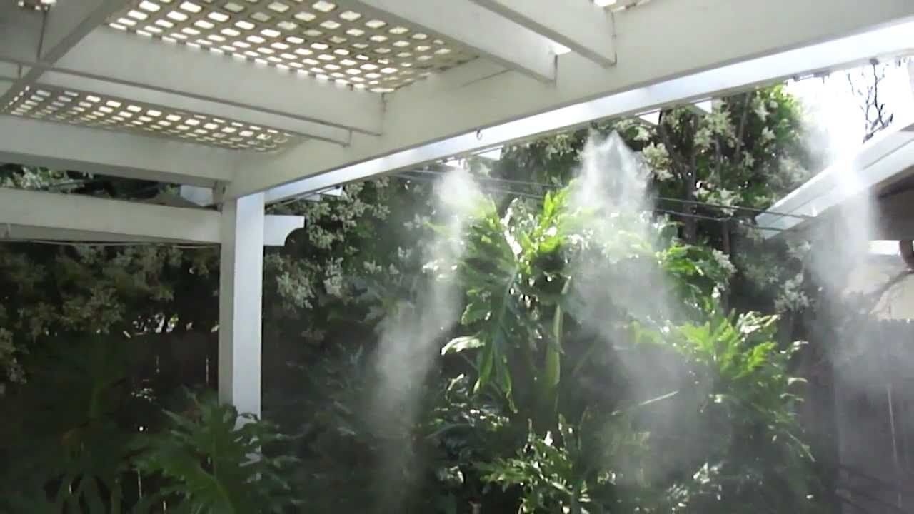 Mist Cooling System : Patio misting system demo youtube