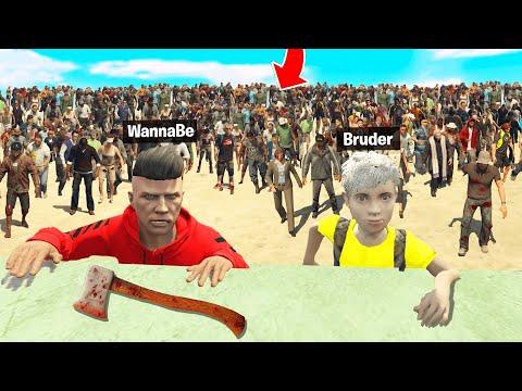 HILFE😱😨 ZOMBIES JAGEN MICH und KLEINEN BRUDER in GTA 5 RP