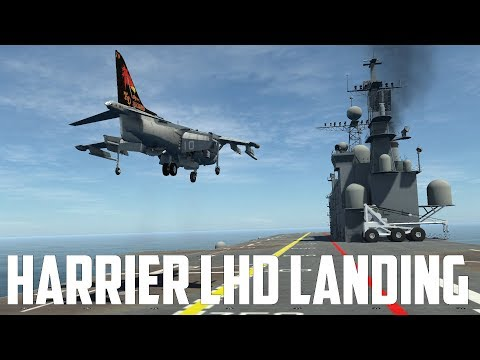 DCS World - Harrier LHD Landing