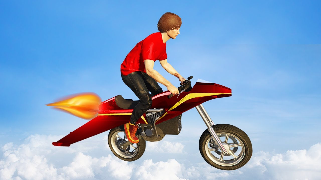 ULTIMATE FLYING JET MOTORBIKE! (GTA 5 Funny Moments)