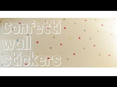 Confetti Wall Decals- DIY