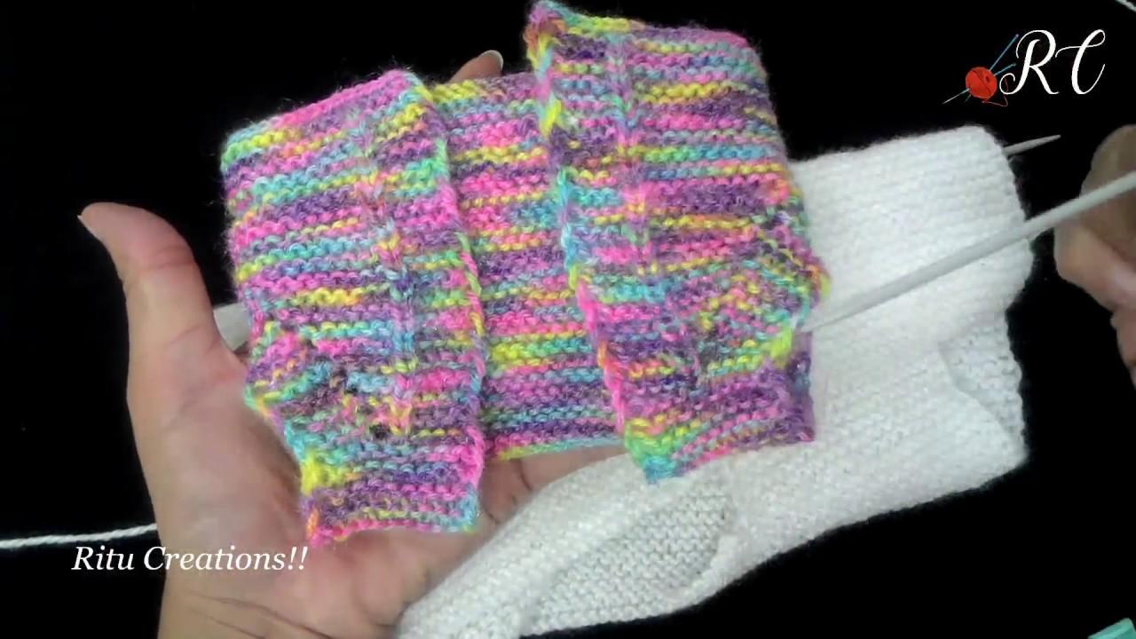 6a2815cb1cfa Half Sweater   Jacket in Easy Hindi Knitting ( हाफ स्वेटर ...