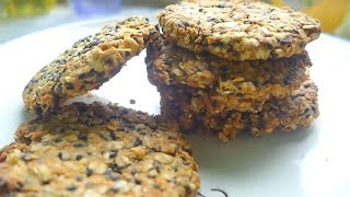 健康低脂的燕麦饼干自己在家做,一点点燕麦片就可以做一堆