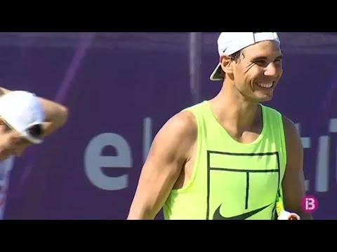 Rafael Nadal Practice at Mallorca Open, 22 June 2017