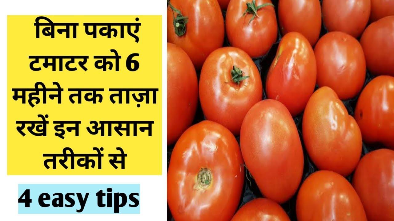 टमाटर को लम्बे समय तक स्टोर करने के आसान तरीके ll How to store tomato for long time