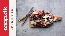 Stegt radicchio salat med Karl Johan svampe og pære | Claus Holm