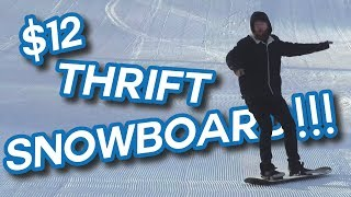 Thrifting a $12 Snowboard!!!