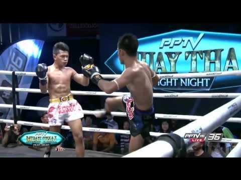Phalangphol sorko sungai gym (Thai) VS Azwan Bin Che Wil (Mal)   PPTV Muay Thai   14 Jan 2017