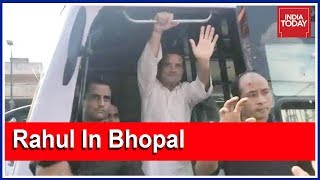 Rahul's Road Show In Bhopal   Live Updates