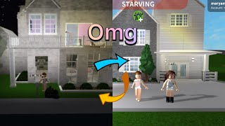 Swapping houses with my sister in Bloxburg (Roblox)