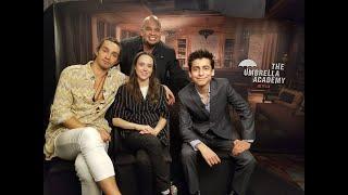 Ellen Page, Robert Sheehan, & Aidan Gallagher - The Umbrella Academy Interviews