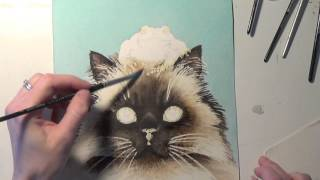 The Dramatic Watercolor Painting of a Cat by Tracy Lizotte