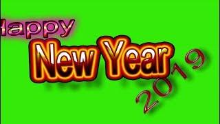 happy new year 2019 green screen