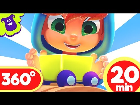 Train ride 360 video for kids | LooLoo Kids