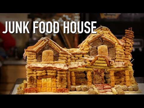 DIY Giant Gingerbread Junk Food House