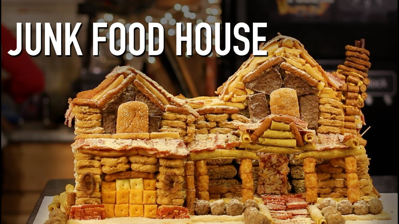 DIY Giant Gingerbread Junk Food House - YouTube