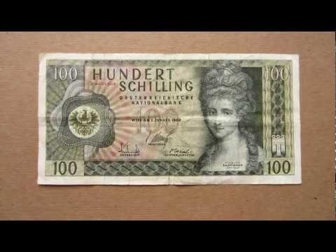100 Austrian Schilling Banknote (Hundred Austrian Schilling / 1969), Obverse & Reverse