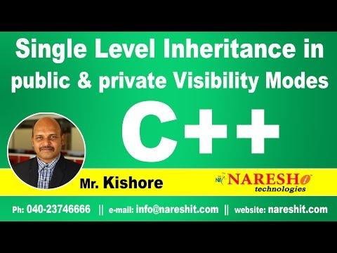 single-level-inheritance-in-public-&-private-visibility-modes- -c++-tutorial- -mr.-kishore