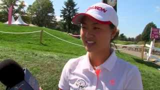 Minjee Lee in contention in her first start as a professional at The Evian Championship