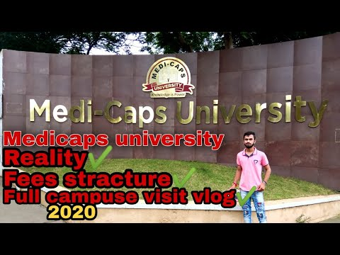 Medicaps University indore(full review vlog) Admission 2020 fee structure placement compus visit