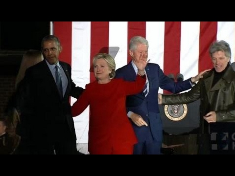 Watch Hillary Clinton's Massive Campaign Speech With Barack and Michelle Obama in Philadelphia