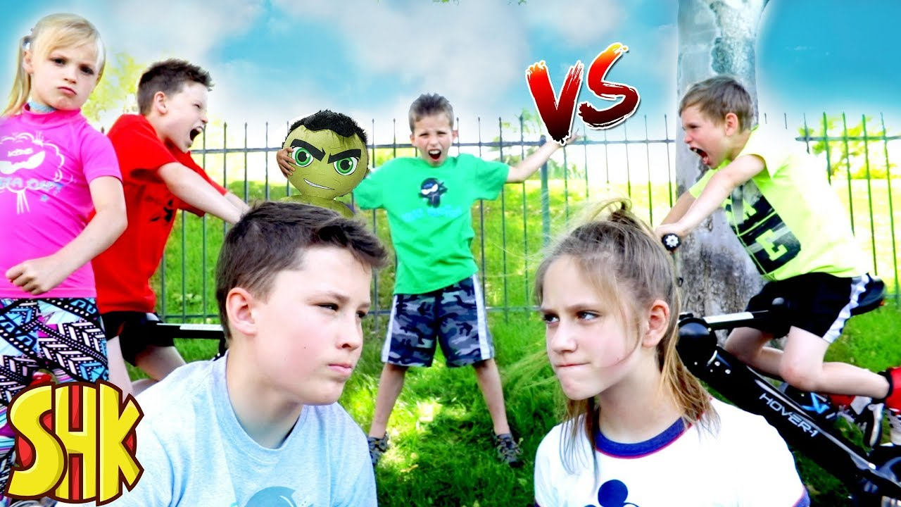 b89b9008 The Incredible HULK CLASH! Ninja Kidz TV vs SuperHeroKids - YouTube