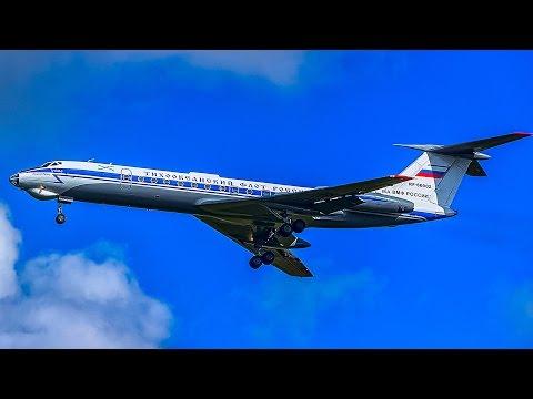 Training Flight aircraft TU-134A-3 Russian Navy in VVO, Vladivostok Airport.