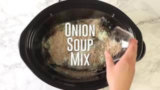 How to make   Crock Pot Mississippi Pot Roast