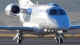 Airplane Embraer Phenom 300 Take Off and Landing Video