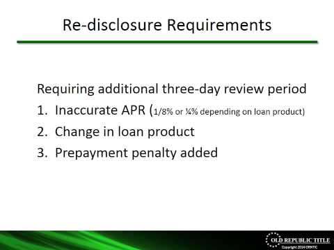 Integrated Mortgage Disclosure Rule - Webinar about the Consumer Financial Protection Bureau