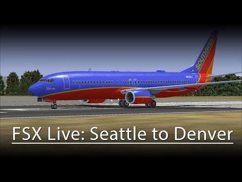 FSX Live: SWA2096 - Seattle to Denver