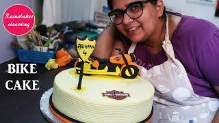 Free Cake Decorating tutorial:Bike cake