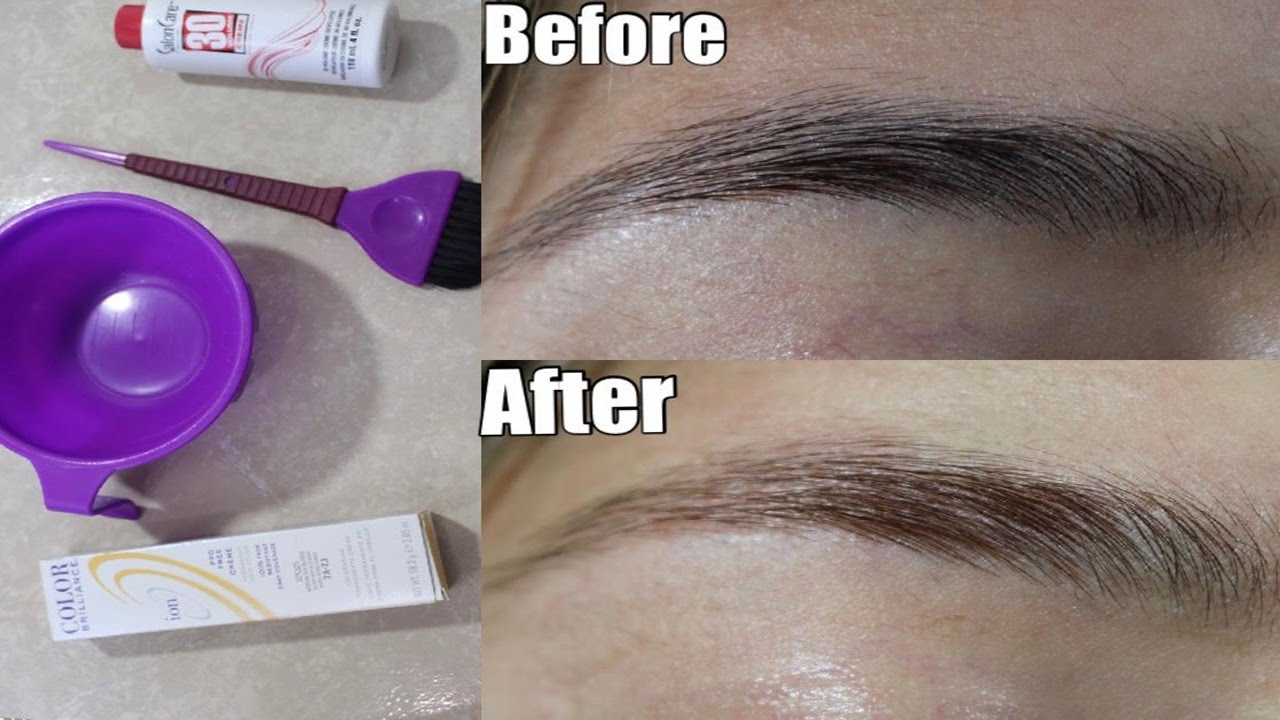 How To Lighten Your Eyebrows At Home L No Bleach L Glamwithsisi