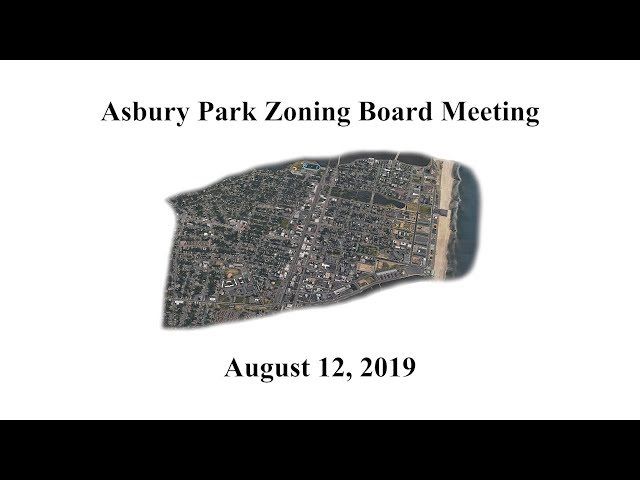 Asbury Park Planning Board Meeting - August 12, 2019