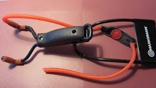 Небольшой обзор рогатки Marksman Folding Slingshot 3055 + меняем резинку