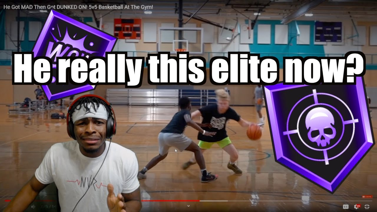 TJASS PUT ON A SHOW! 😳🔥 | He Got Mad Then Got DUNKED ON! 5v5 Basketball At The Gym!