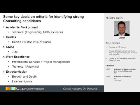Preview: Perfecting Your Management Consulting Resume With Darren