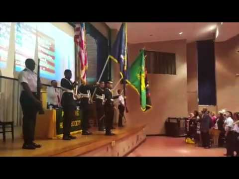 Aviation High School Color Guard Drill Team: Honor Society Induction 2015-2016
